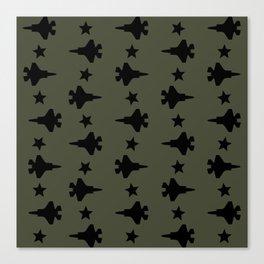 F-35 Lightning II Pattern Canvas Print