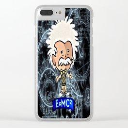 Tiny Einstein Clear iPhone Case
