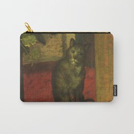 Cat in the art – Aertsen – vegetable and fruit stand- detail Carry-All Pouch