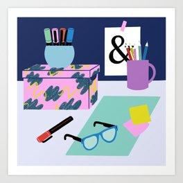Desk Art Art Print