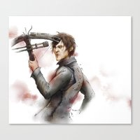 daryl dixon Canvas Prints featuring Daryl Dixon by I.I.