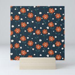 skullflower field seamless vector pattern Mini Art Print