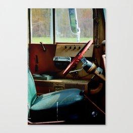 Bus Drivers Seat Canvas Print