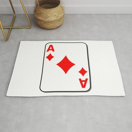 Ace of Diamonds Card Rug