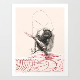 Red River Graphic  Art Print