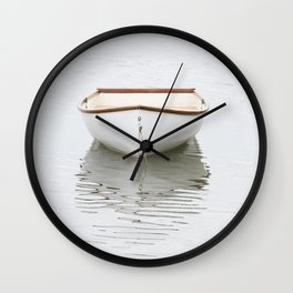 Pamet Harbor Skiff Wall Clock