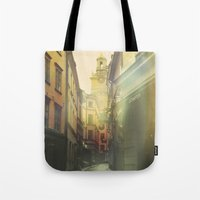 stockholm Tote Bags featuring Stockholm by Viviana Gonzalez