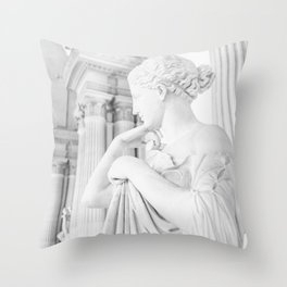 Lady In White Throw Pillow