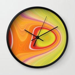 Kinky Sablo Lio ~ Orange & Lime Green Wall Clock