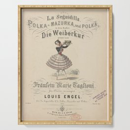 Taglioni Marie  cLa Seguidilla PolkaMazurka und Polka in dem BalletDie WeiberkurAdditional Diable a quatre Serving Tray