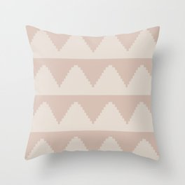 Geometric Pyramid Pattern - Soft Rose Throw Pillow