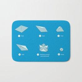 Step-by-step Origami Bath Mat