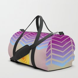 Sunset (Geometric abstract) Duffle Bag