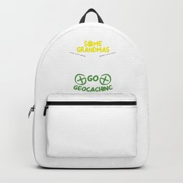Some Grandma's Knit Some Go Geocaching GP Navigational Global Positioning Gift Backpack