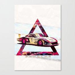"""Porsche 935/78 """"Moby Dick"""" // Le Mans Race Cars Canvas Print"""
