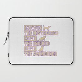 Rescue, Save, Love Laptop Sleeve