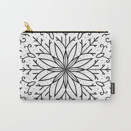 Single Snowflake - White Carry-All Pouch