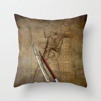 anatomy Throw Pillows featuring Anatomy by ArtAngelo