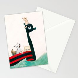 The Kittens Go for a Sail Stationery Cards