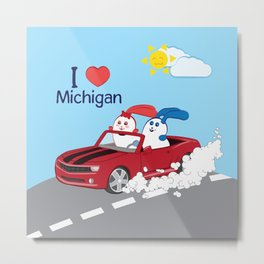 Ernest and Coraline | I love Michigan Metal Print