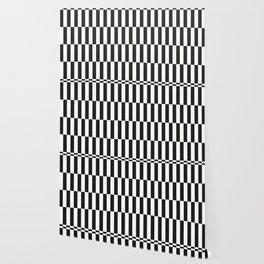 Black checkers scandinavian design Wallpaper
