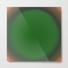 Green Fuzz Metal Print