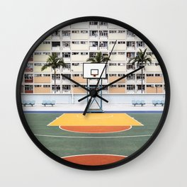 Basketball Court Wall Clock