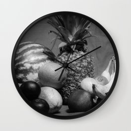 Just leave it on the table with the back drop  Wall Clock