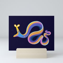 Blue ribbon eel Mini Art Print