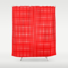 Aurora Red Pattern 1 Fall Winter 2016 Pantone Color Shower Curtain