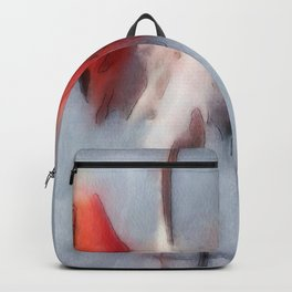The Pink Flamingo in Watercolor Backpack