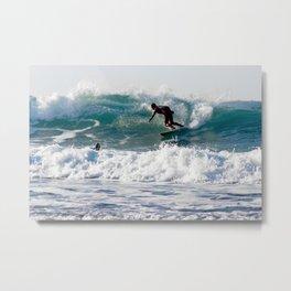 Cornish Surfers Metal Print
