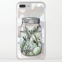 Tadpoles in a jar Clear iPhone Case
