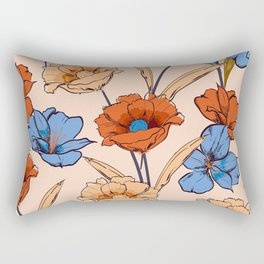 Orange rose 41 Rectangular Pillow
