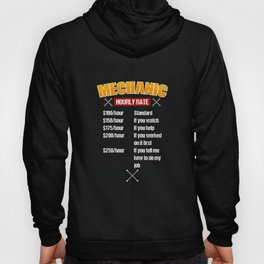 Electrician Hourly Rates design | funny Mechanic Tee Idea Hoody