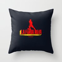spain Throw Pillows featuring Spain by Skiller Moves