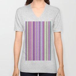 Pink Summer Stripes Unisex V-Neck