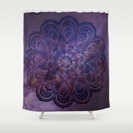Ultraviolet Mandala Shower Curtain