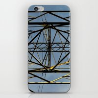 the wire iPhone & iPod Skins featuring Metal Wire by Lia Bernini