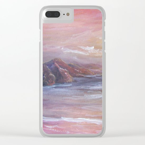 Landscape in Pink MM150601 Clear iPhone Case