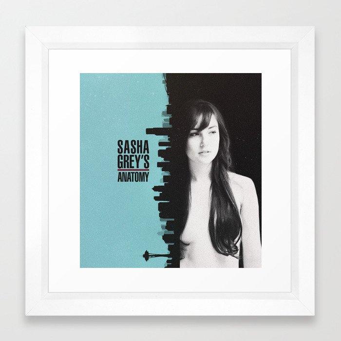 Sasha Greys Anatomy Framed Art Print By Redlemon Society6