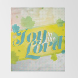Joy in the Lord Throw Blanket