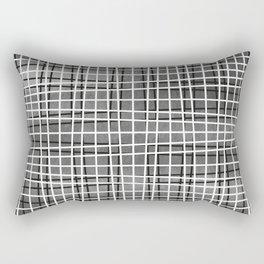 Gray crosshatch pattern. Rectangular Pillow