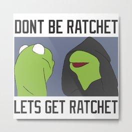Evil Kermit Meme Metal Print