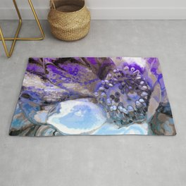 In Sunlight, Lilac and Blue Rug