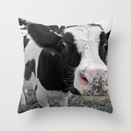 Something kinda moo Throw Pillow