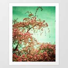 Flowers Touch the Sky Art Print