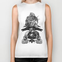 totem Biker Tanks featuring Totem by DIVIDUS DESIGN STUDIO