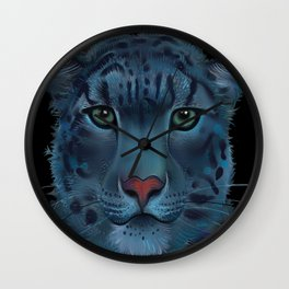 The Blue Leopard Wall Clock