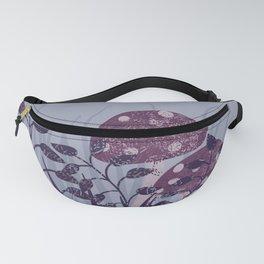 purple toadstools vector illustration Fanny Pack